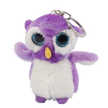 Schlüsselanhänger violette Eule