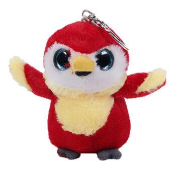 Schlüsselanhänger roter Papagei