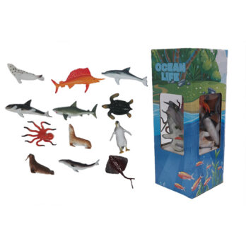 Meerestiere im Karton