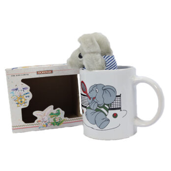 Elefant Tasse mit Plüschtier