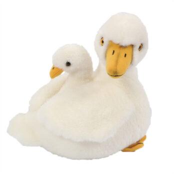 Sitzende Ente mit Baby