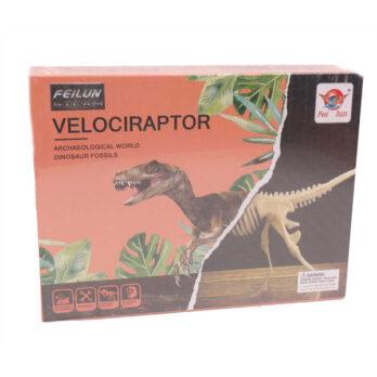 Dinosaurier Fossil – Archäologische Ausgrabung Velociraptor (große Box)